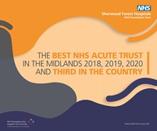 Best NHS Acute Trust in the Midlands and Third in the Country