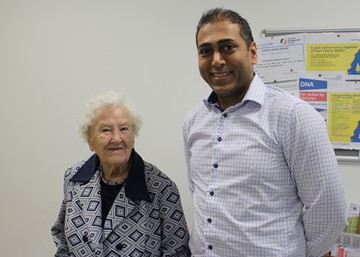Dorothy gets back on her feet after being one of the oldest knee operation patients in the country.