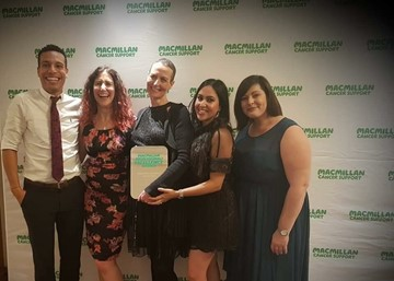 Clinical Psychology Cancer Service shines bright at national Macmillan Excellence Awards