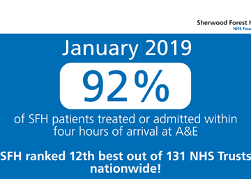 Sherwood Forest Hospitals continues to provide one of the best performing Emergency Departments in the country