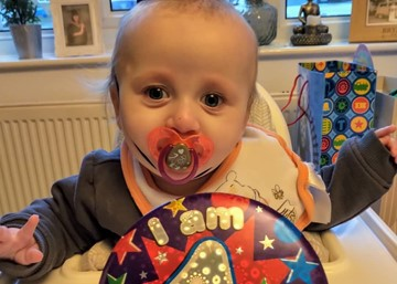 Mum says thanks to neonatal unit as baby Logan spends New Year at home after spending his first in intensive care